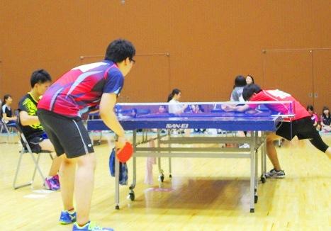 京専各体育大会 卓球 試合