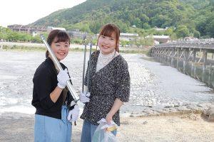 嵐山清掃ボランティア京都栄養医療専門学校
